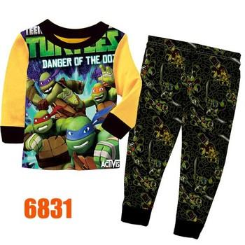Boys Spiderman Pajamas Sets Children Autumn -Summer Clothing Set New 2014 Wholesale Kids Short-Sleeve Cartoon Pyjamas 6754