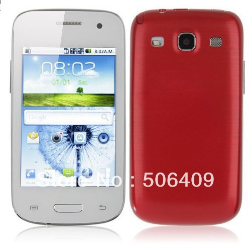 Free ship 3.5 inch Capacitive screen Android OS V4.0 Smart unlocked Mobile phone Factory Promation Y9300+ TV WIFI(China (Mainland))