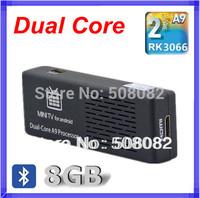 2pc / Lot Bluetooth MK808 Andriod 4.2.2 TV BOX Dual Core Rk3066 Cortex A9 1.6GHZ 1GB RAM 8GB 1080P Mini PC WiFi HDMI