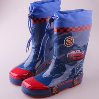 Boys Rainboots 2014 New Spring Carton Car Children Rain Boots For Kids Boy Fashion Brand Waterproof Kid Rubber Boot