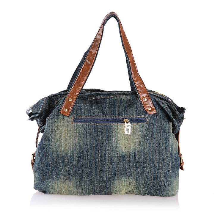 [TC] New 2014 women handbags hot selling fashion denim female jeans bag personalized cartoon women bag free shipping
