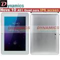 Четырехъядерный А31 IPS В акции Бесплатная Доставка 10.1-дюймовый Nova 10 Android 4.1 4.2 Планшетных ПК четырехъядерный