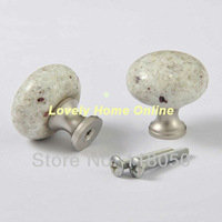 30mm Granite Drawer Knob Cabinet Knobs Handles,High Quality Home Hardware,Perfect Match w/ White Furniture & Stone Countertops