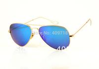 Hot Sell New Style Designer Sunglass Brand Sunglass Men's/Woman's Fashion 3025-112/17 Sunglass Gold Frame Blue Iridium Lens 58mm