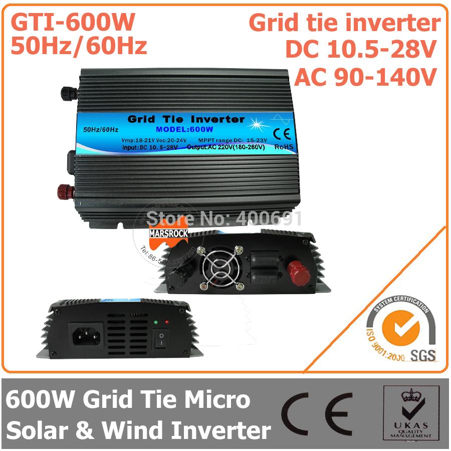 Инверторы и Преобразователи MARS ROCK 600W 18 Tie , 10,5 28 DC AC 90/160v GTI-600W