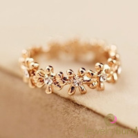 Limited Time Special Fashion Flower Designer 18K Gold Plated Statement Finger Rings for Women Free Shipping-Jewelry Bund