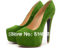 Discount 2.35inch platform leather high heel dress shoes women 2013 pumps big size 42  43  44  45