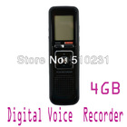 Free Shipping New PRO 4G 4GB USB 650Hr Digital Voice Recorder Dictaphone Telephone MP3 storage Black With Retail Box(China (Mainland))