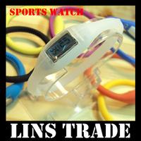 [ Special Offer ] New anion silicone waterproof sports digital watch gift for fashion men women wrist quartz watch