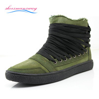 2014 New Fashion Design Gumshoes Zip Spring Casual Sapatos Green / Black Canvas Shoes Brand Washing Sneakers Espadrilles For Men