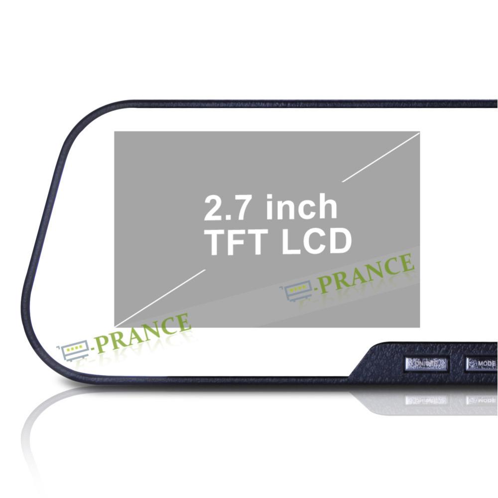 1080P Full HD DV200 Mirror DVR Rear View Camera +120 Degree Wide Angle+IR Night Vision+SOS+Novatek 96220+2.7 Inch LCD