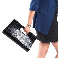 Free Shipping, Brief,Elegant Crocodile Leather Handbag,PU Leather Bag,Shoulder Bag 9 colors