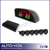 Freeshipping OEM Car Reverse Backup Radar kit LED Indicator display Alarm Beep Car Parking Sensor with 6 sensors black