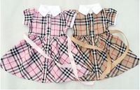 Retail 2013 New Girls Summer Dresses Kids Fashion Plaid Dress British Style Childrens Dress More Color Fit 1-5yrs Free Fhipping