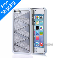 200% Handmade Crystal Hybrid Rainbow Swaro Crystal Bling Case Hard Back Case Cover for iphone 5 5S without  retail package X097