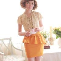 Sales Nikyberry 2014 Fashion Women Elegant Asymmetric Pleated Pencil Skirt High Waist 2Colors S M Plus Size Free Shipping Z45017
