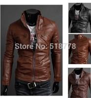 Men'S Leather Biker Skull Man Jacket Jaquetas Motorcycle Down Fur Jaqueta Couro Men Pilot Jackets Fur And Coats Down-Jacket