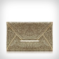 New Arrival HOT Sale Glittered Gold Color Envelope Clutch,Party Bag,Evening Purse,Handbag,Free Shipping