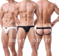 White and Black Jockstrap Men Cool Underwear Thong Brief open butt underwear clubwear Sexy