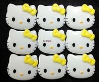 Yellow Bow Hello Kitty Cabochons 27*22mm Kawaii Deco