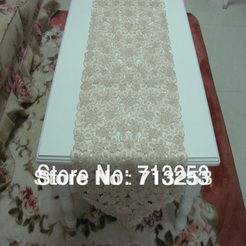 Table runner 40*220cm embroidery terylene full working retail and wholesale for home hotel  wedding free shpping 1pc/bag NO.566