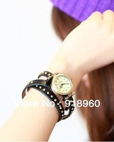 Promotion / Cow Leather Watches/ Women's Watches/ High quality ROMA Style Lady Watch / Hot Sale/ Free Shipping