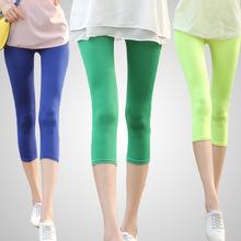 multicolour neon legging capri candy kleur elastische grootte bijgesneden broek legging broek 2014 nieuwe mode w3001