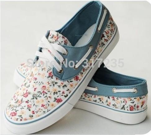 Aliexpress.com: Comprar Moda Mujer zapatillas de deporte florales ...