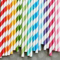 "235 Assorted Designs of 7.75""  Party Drinking Paper Straws  Diamond Circle Striped chevron  Polka Dot"