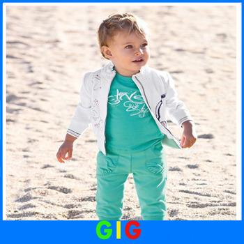 In Stock 2014 handsome boy set for kids suit 3 piece set(Coat+T Shirt+Pant) Children Suit Kid Clothes spring wear