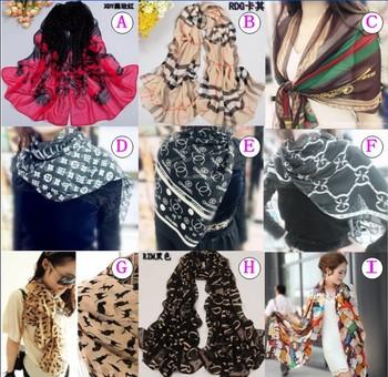 2013 Women's Fashion Long Soft Shawl Stole Silk Chiffon Gadient Scarf ladies georgette sunscreen scarve wrap XQM