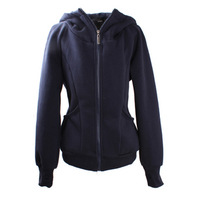 2014  long-sleeve fleece sweatshirt solid color Women with a hood outerwear free shipping (Thick)