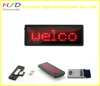 Red color Scrolling LED name badge sign/advertising business card show display tag 7*29 Pixels / order=10pcs free 1 set soft
