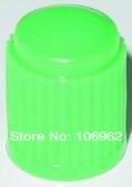 100 pcs/lot Green Plastic Tire Valve Cap Car Tyre Valve Stem Cover 8V1 Threads Retail & Wholesale China Post Free Shipping