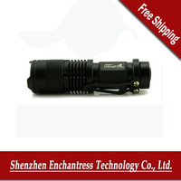 ultrafire CREE Q5 LED 7W 300lm 3-Mode Adjustable Focus Zoomable Mini Flashlight Torch , Free Shipping