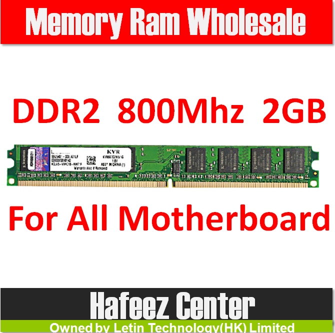 Brand New DIMM Memory Ram DDR2 2G 800Mhz PC2-6400 For desktop computer, memoria ram for all motherboard Free Shipping for Sale(China (Mainland))