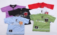 2013 New Style Kids Clothes Boys T Shirt Children's t-shirts 7colors Baby Clothing