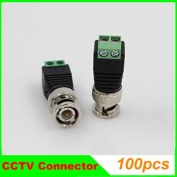 100pcs/lot Mini Coax CAT5 To Camera CCTV BNC Video Balun Connector CCTV Accessories