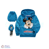 Free shipping,2013NEW,Retail,Children's hooded sweater, children T-shirt ,Long sleeve,mickey mouse