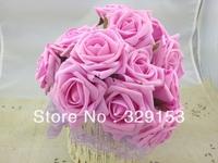 72pcs Dia.7cm Artificial Simulation PE Foam EVA Rose Peony Flower Wedding Chistmas Party Decoration