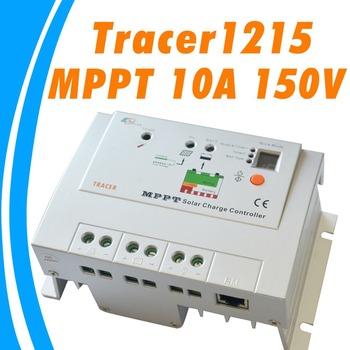 10A 150V MPPT Solar Controller 12V 24V auto solar battery panel charge regulator Tracer1215 indoor use EPsolar TRACER 1215RN