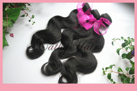 "queen hair products peruvian grade aaaa virgin body wave unprocessed weave 8""-32"" natural black same size 3pcs lot free shipping"