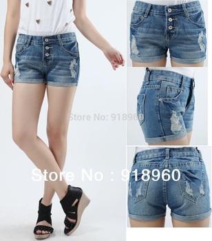 Newest Large Plus Big Size Women's Denim Shorts/Fashion Ladies Short Jeans / XS ~ XXXL 4XL ~ 9XL Summer Promotion Low Waist/WTE