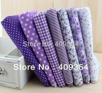 7pieces 50cmx50cm purple series cotton fabric fat quarter bundle patchwork cotton quilting fabric Tilda cloth basic quality 003#