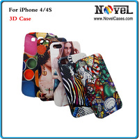 Free Shipping 3D Sublimation Cell Phone Cover for i Phone 4/4S