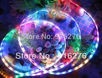 Wholesale DC12V 5m WS2811 led digital magic pixel strip 5050 SMD RGB 30pcs 10 IC/m  tube waterproof IP67 New Free Shipping