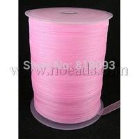Organza Ribbon,  Lt.Pink,  6mm wide,  500yd/roll
