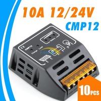 LOTS 10Pcs 10A PWM Solar Panel Battery Charge Controller Regulator For 120W(12V),240W(24V) Panels