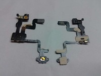 10pcs for iphone 4S   Proximity sensor Induction light  power flex Cable with on off  swith button  camera flex cable