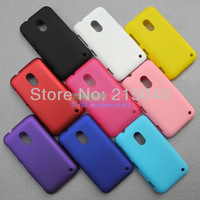 Free Shipping, High Quality Rubberized Hard Matte Case Cover for Nokia Lumia 620 Matte Rubber Back Case, NOK-004